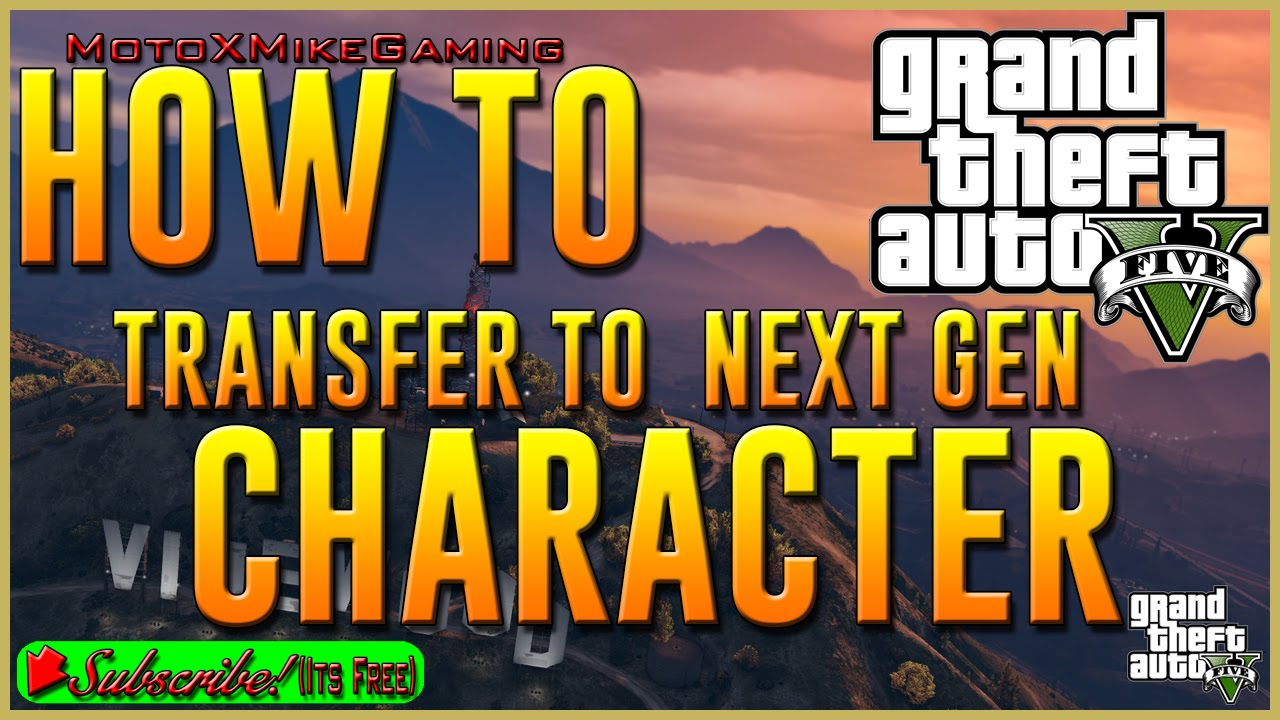 gta 5 transfer character from ps4 to xbox one