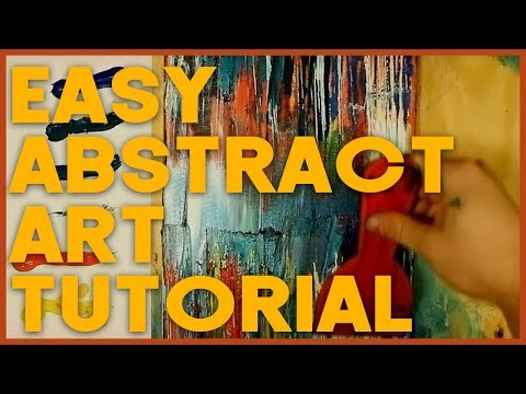 Easy Acrylic Painting Tutorial 🎨 Abstract Art for Beginners