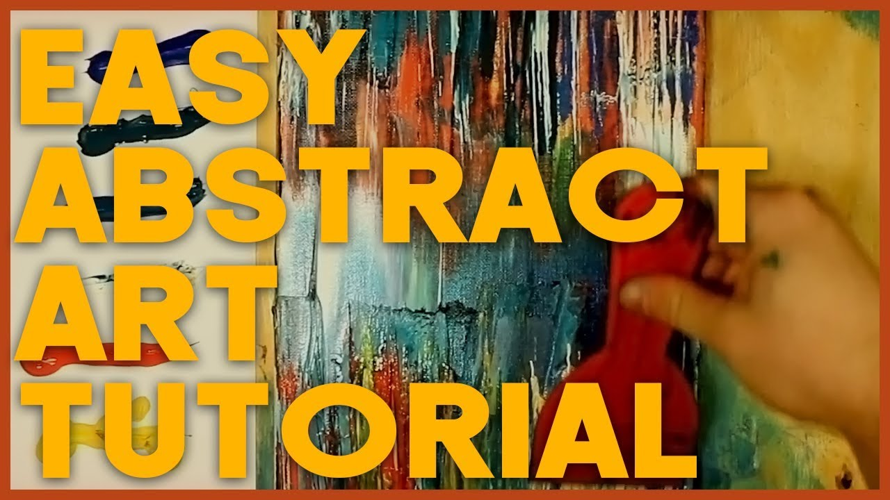 Easy Acrylic Painting Tutorial Abstract Art For Beginners
