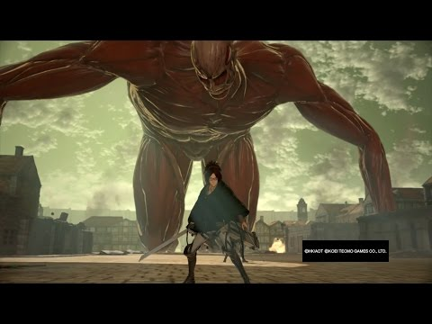 Attack on Titan Wings of Freedom Hange vs Bertholdt 99+Perfected Gear Gameplay