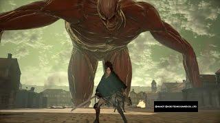 Attack on Titan Wings of Freedom Hange vs Bertholdt 99+Perfected Gear Gameplay