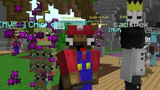 When Mario Plays Minecraft | Hypixel Skywars