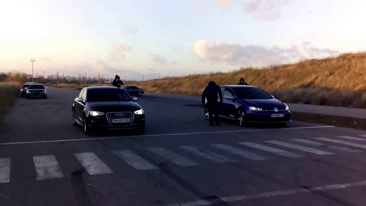 Audi S3 Stage 1 vs Golf R Stage 2 dragracing - YouTube
