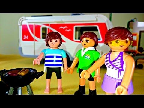 Видео для детей: Весело летом в кемпинге. Конструктор Playmobil. Toys. Набор для сюжетно-ролевых игр