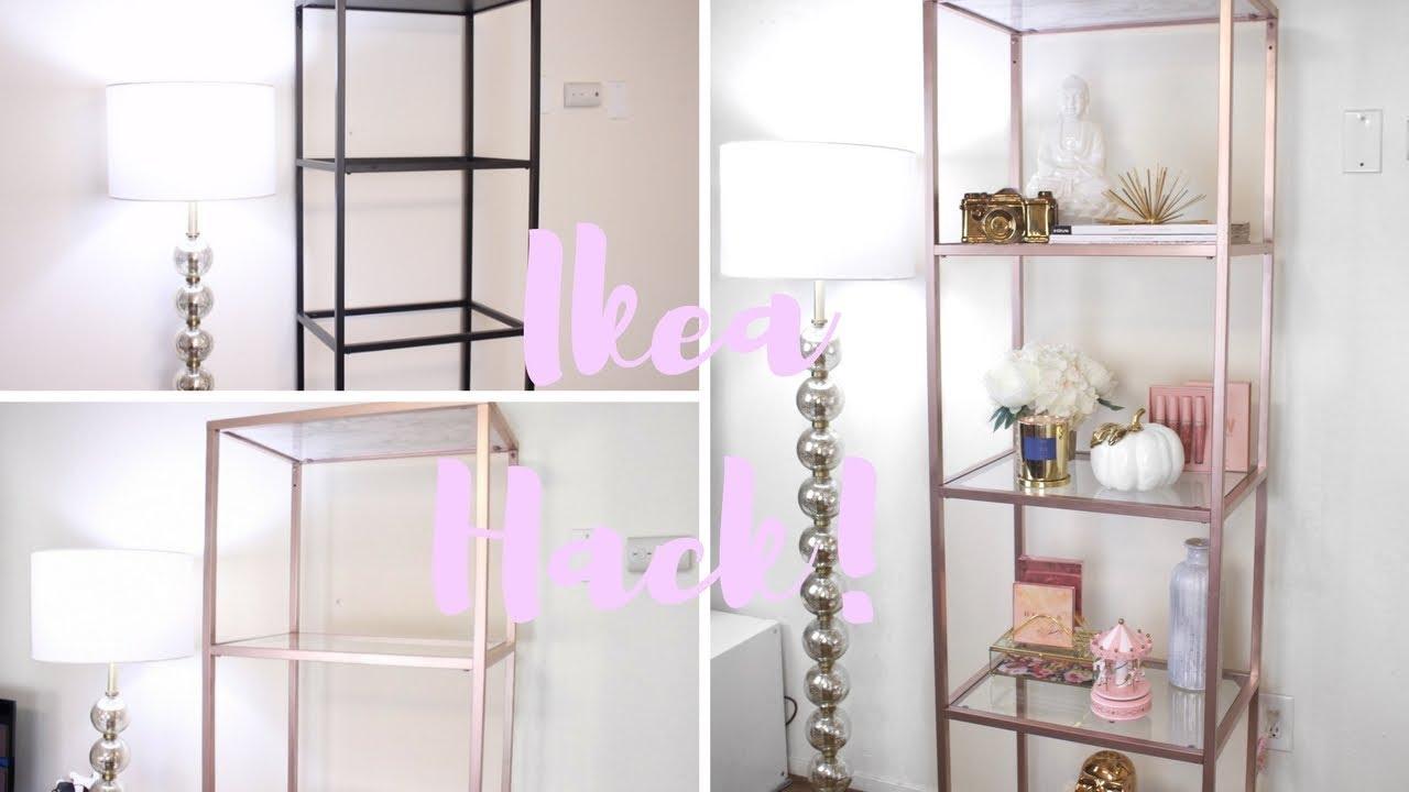 Ikea Hack Rose Gold and Marble Shelf unit & Decor