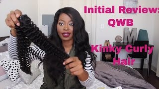 Best Affordable Kinky Curly Hair | AliExpress Queen Weave Beauty LTD (QWB) Initial Review + Unboxing