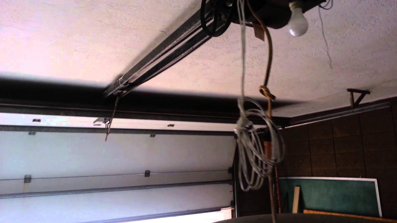 old garage door opener from the 70s - YouTube