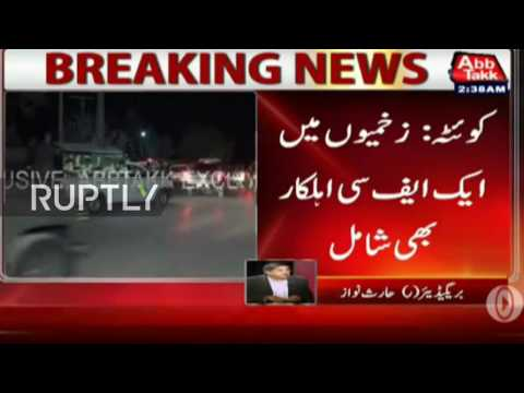 LIVE outside Quetta police training centre after gunmen take hundreds hostage