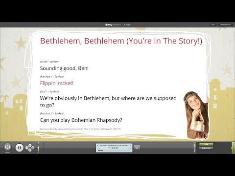 Bethlehem, Bethlehem (You're In The Story!)- Words On Screen- Bethlehem the Musical- Out of the Ark