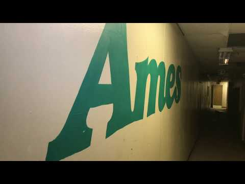 ABANDONED FORMER AMES WITH POWER (VERY CREEPY)