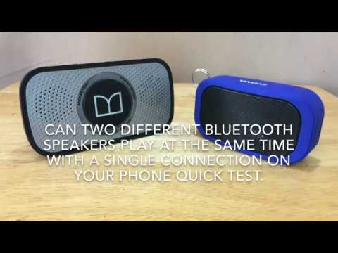 Can Two Bluetooth Speakers Play at the Same Time Quick Test (4K video)