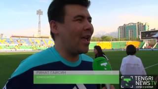 Казахстанские звезды шоу бизнеса обыграли российских в футбол