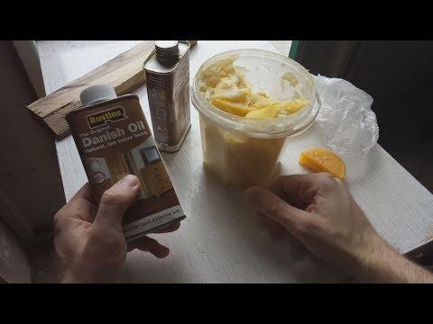 Масло для дерева Danish oil и Льняное масло