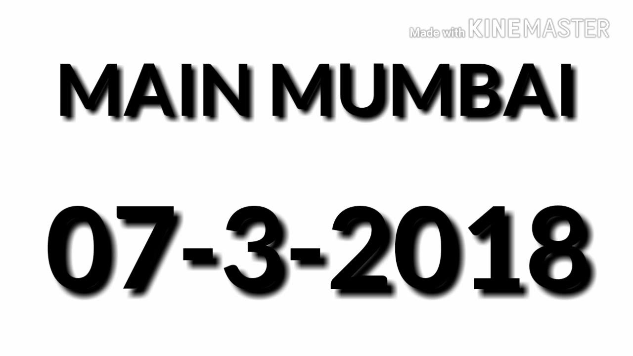 SATTAMATKA MAIN MUMBAI 07-3-2018 FIX SINGAL OPEN TRICK