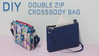 DIY Double zip crossbody bag/D…