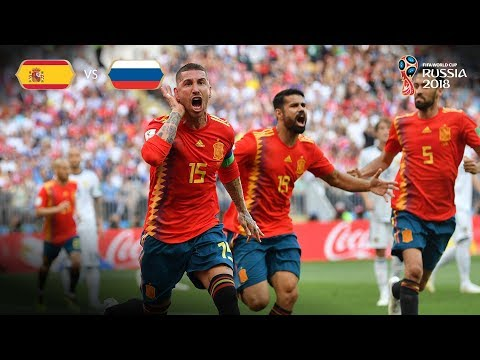 Spain Goal v Russia - MATCH 51