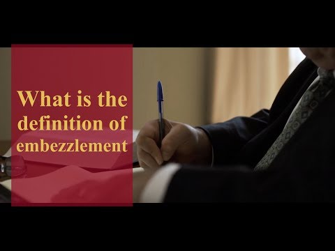 What is the definition of embezzlement? |  Pennsylvania Criminal Defense & Personal Injury Lawyers