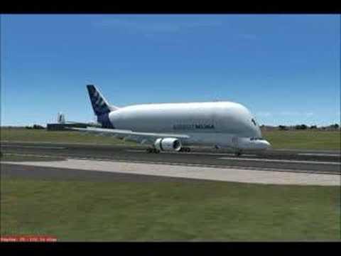FS9 Singapore Changi International Airport (WSSS) Landing - Airbus A300-600ST Beluga