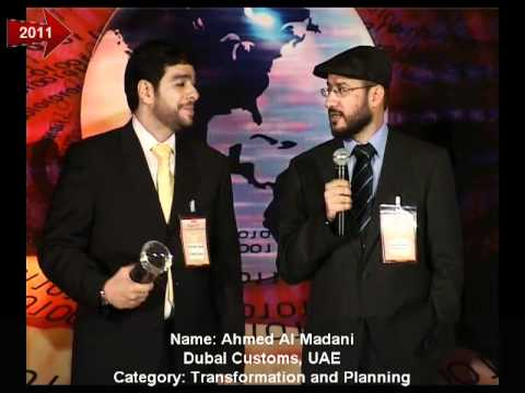 Dubai Customs receiving the iCMG Architecture Excellence Award 2011