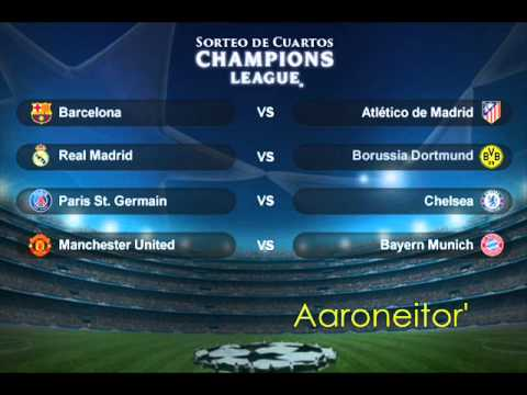 Sorteo de cuartos de final de la uefa champions league for Cuartos de final champions