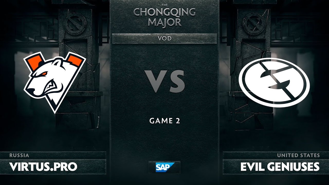 [EN] Virtus.pro vs Evil Geniuses, Game 2, The Chongqing Major UB Round 1