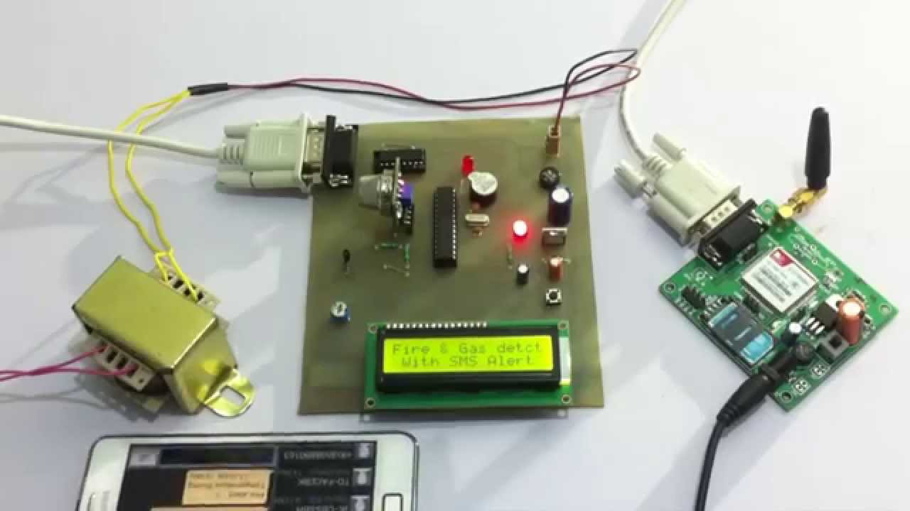 hight resolution of fire and gas detection system with gsm alert