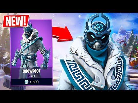 New Snowfoot Skin! (Fortnite Live Gameplay)