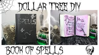 DOLLAR TREE DIY HALLOWEEN DECOR   BOOK OF SPELLS