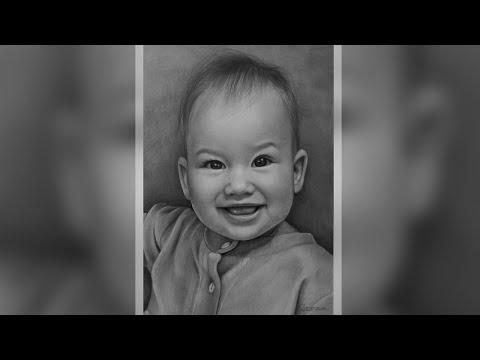 Детский портрет карандашом