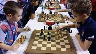 Kolesov vs Cherniaiev (8 YO) World Cadet Blitz up 11 Round 9