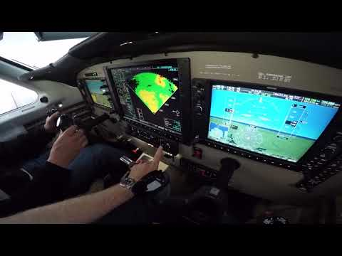 Use of Weather RADAR Before/During Takeoff in a Piper Meridian with Dick Rochfort