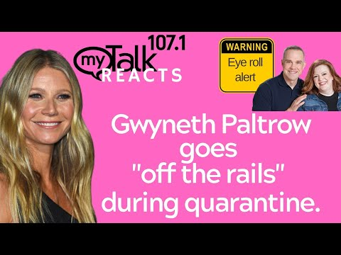 #GwynethPaltrow ate bread and kinda drank alcohol during quarantine. Oh no. #offtherails #relatable