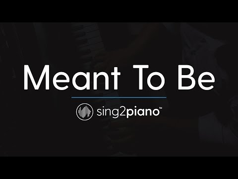 Meant To Be (Piano Karaoke Instrumental) Bebe Rexha & Florida Georgia Line