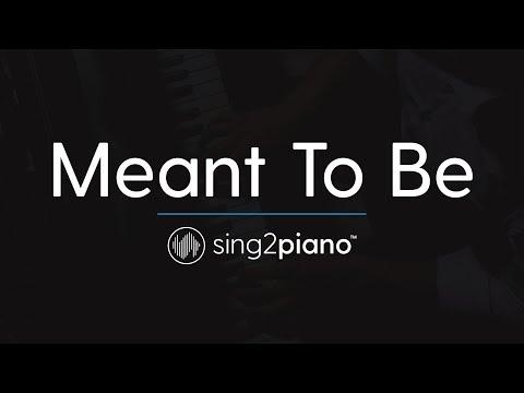 Meant To Be (Piano Karaoke Instrumental) Bebe Rexha & Florida Georgia Line