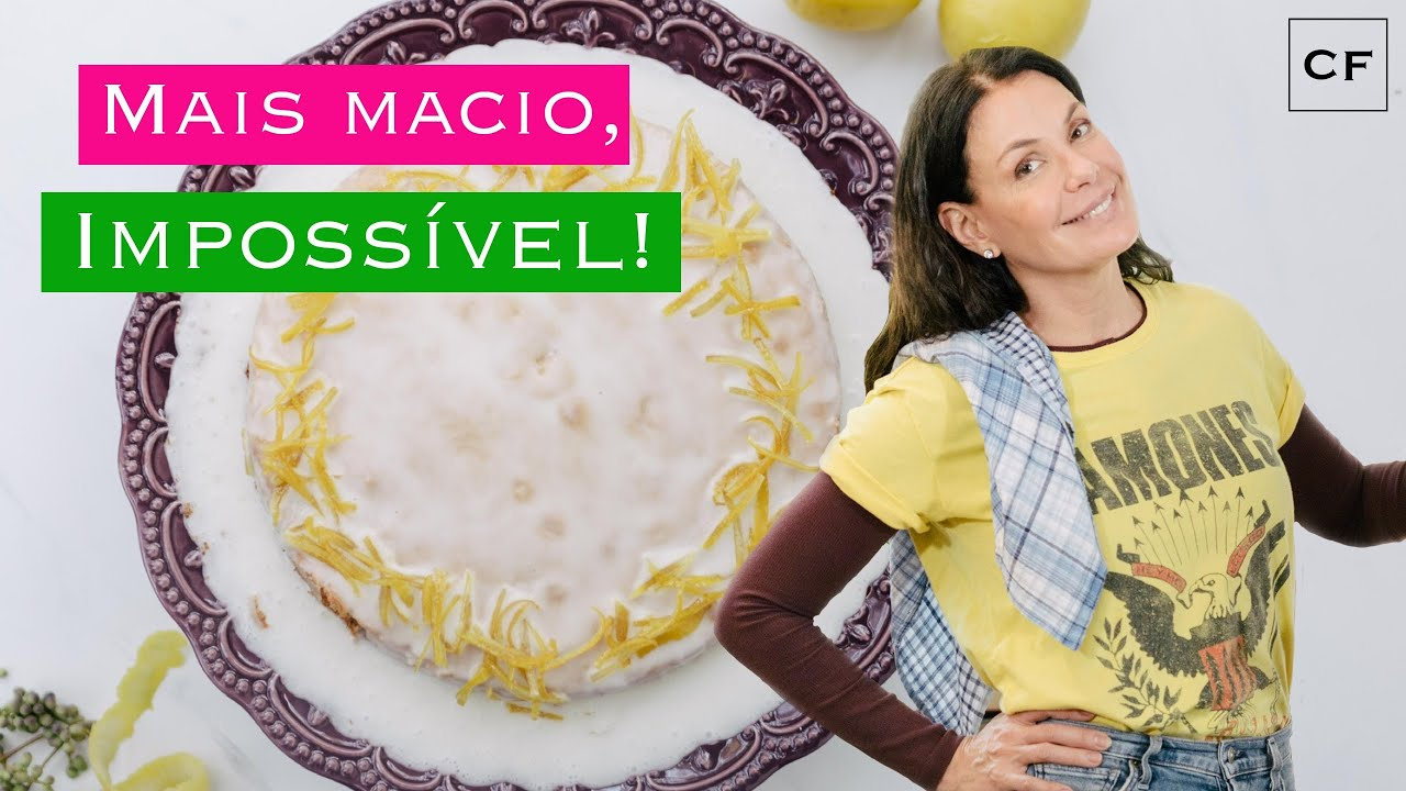 Bolo de Limão Siciliano - Na Cozinha Com Carolina