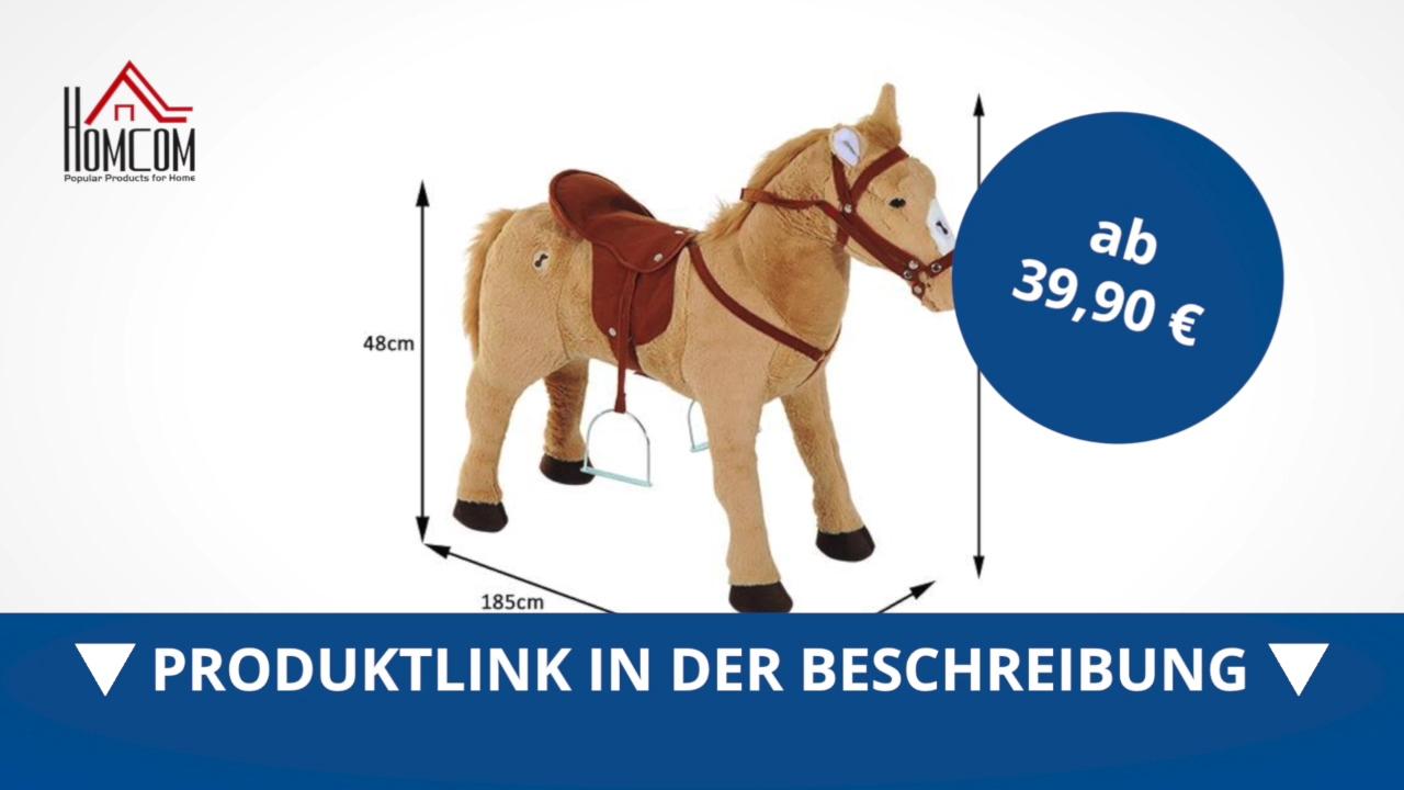 homcom schaukelpferd schaukeltier reitpferd kinder plüsch pferd