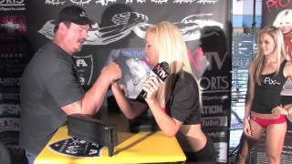 Todd King with XPTV Host Valerie  from Pro Fix Armwrestling