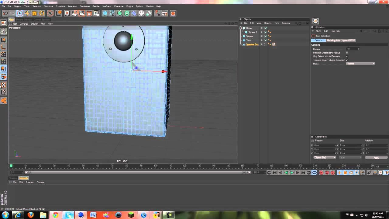 Speaker Modeling :: Cinema 4D