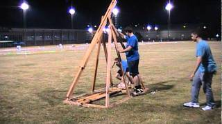 University Of Kentucky 2011 Water Balloon Fight - Trebuchet, Shot #1