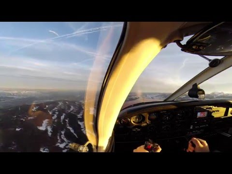 Flying Over Geneva Lake At Sunrise