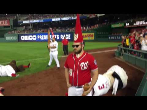 Garden Gnomes take out the Nats racing Presidents