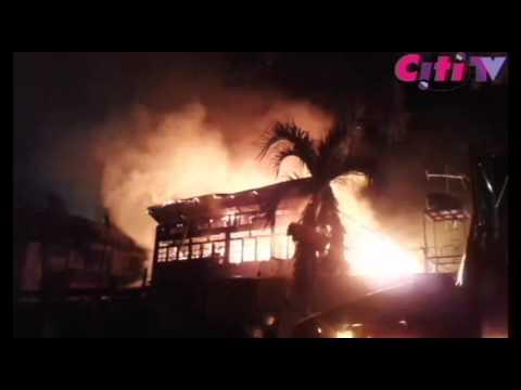 Coconut Grove Regency Hotel on fire