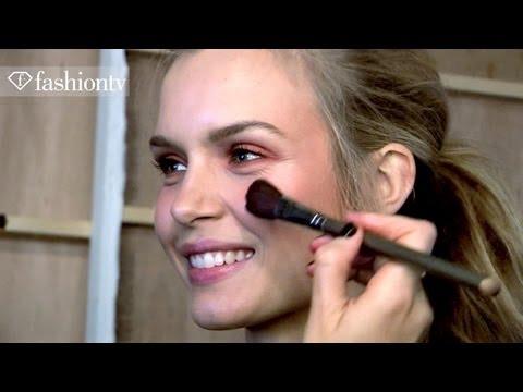 Hair & Makeup - Jaeger Backstage - London Fashion Week Spring 2012 | FashionTV - FTV