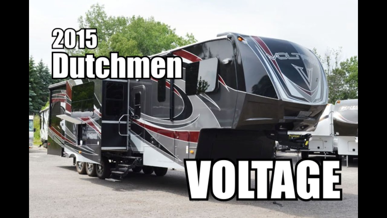 Raptor Rv Floor Plans 2015 Dutchmen Voltage 3895 Fifth Wheel Toyhauler Youtube