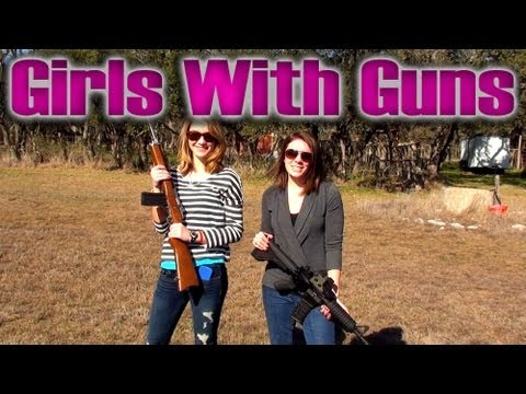 Girls With Assault Rifles (AR15 w/ Eotech and Mini14)