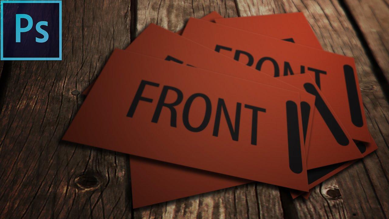 How To Create A Business Card Mockup PSD Photoshop Tutorial