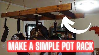 How to make a Hanging Pot and Pan Rack