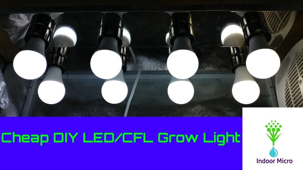 How to make a cheap diy led cfl grow light fixture indoor micro