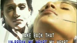 03 Toni Braxton Un Break My Heart Dove Record Karaoke