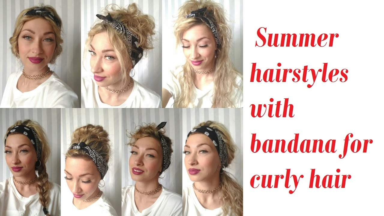 Summer hairstyles with bandana for curly hair 82c1eb99e20